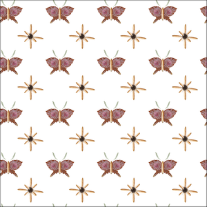 Wrapping paper botanical butterfly