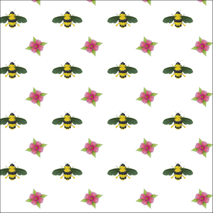 Wrapping Paper Botanical Bees&Flowers