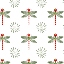 Load image into Gallery viewer, Wrapping Paper Botanical Dragonfly
