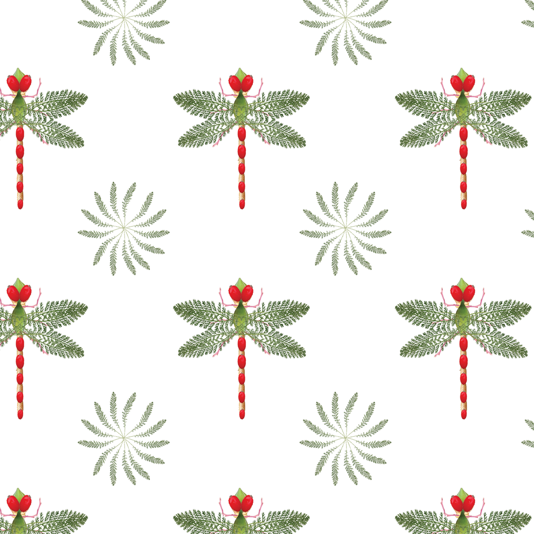 Wrapping Paper Botanical Dragonfly