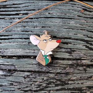 "Basil, The Great Mouse Detective - ""Bloody Hell"" or ""Bloody Fucking Hell"" - Hard Enamel Pin"