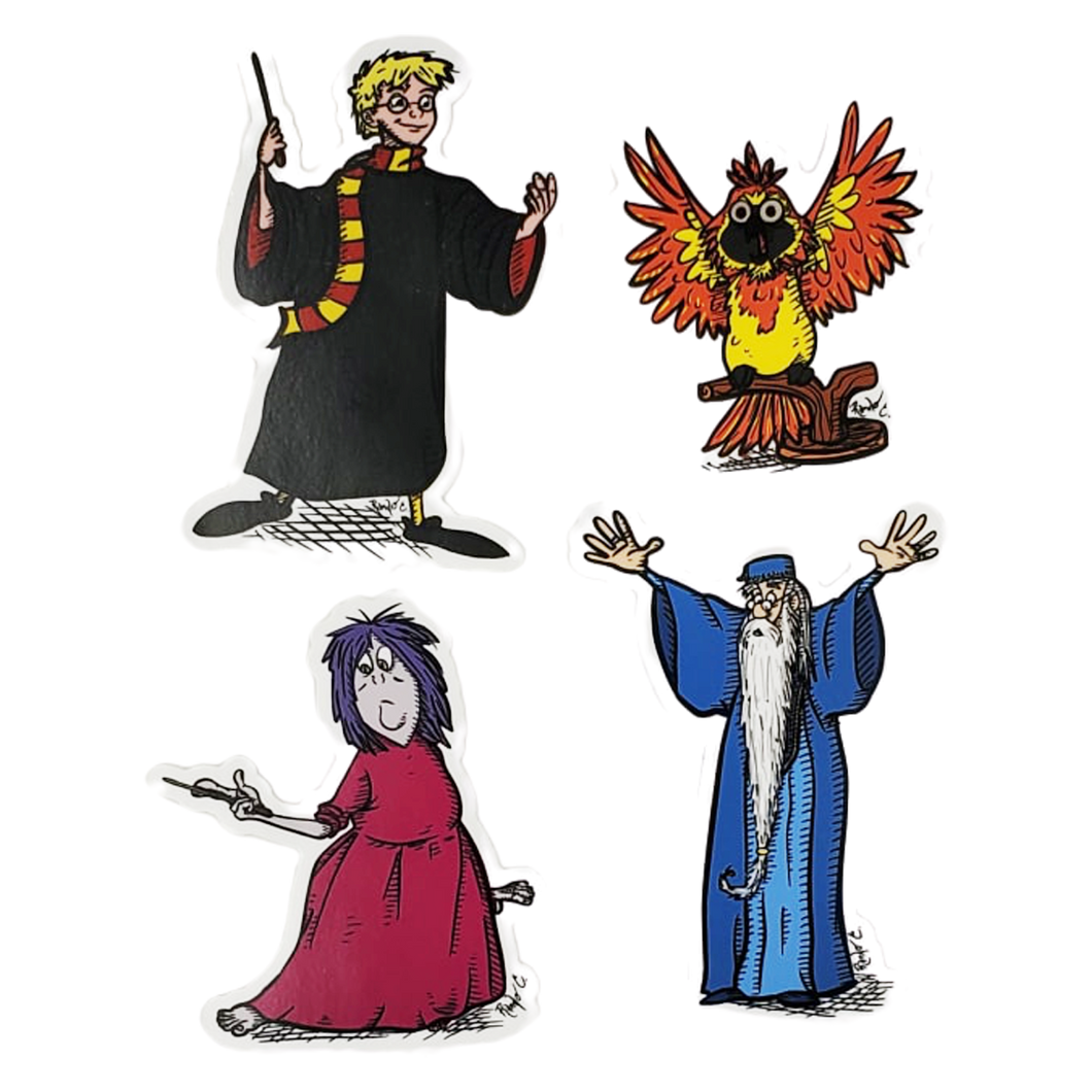 Wart Potter and the Sword in the Sorcerer's Stone Vinyl Sticker Set of Four