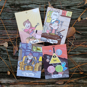 Gravity Falls, 5x7, Tarot Prints - Choose from Four Cards!