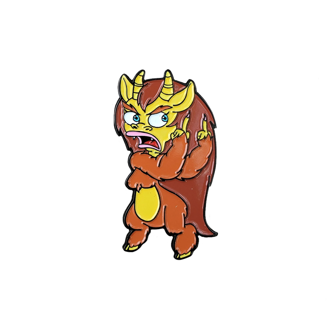 Connie the Hormone Monstress (Big Mouth) Soft Enamel Pin!