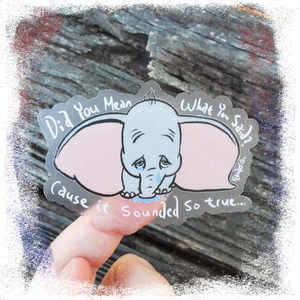 "Dumbo / DeVotchka - 3"" CLEAR Vinyl Sticker"