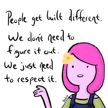 "Load image into Gallery viewer, Princess Bubblegum ""People get built different..."" Print (Pick Your Size!)"