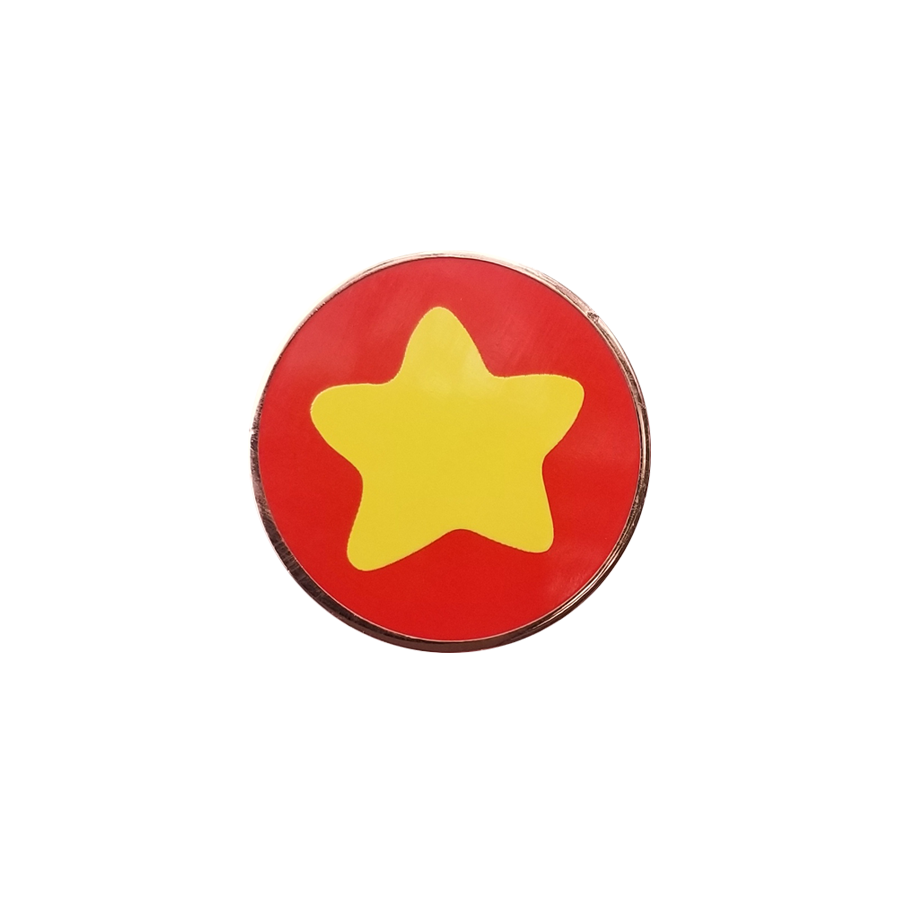 Star Pin That Looks Like a Familiar Shirt - Hard Enamel Pin