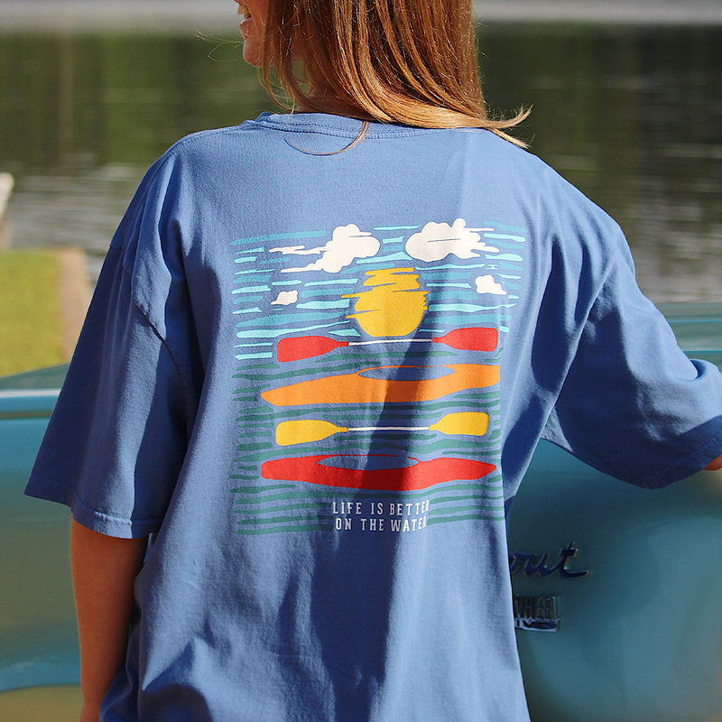 On the Water | Break Clear Men's Outdoors T-Shirt | Organic Pima Cotton