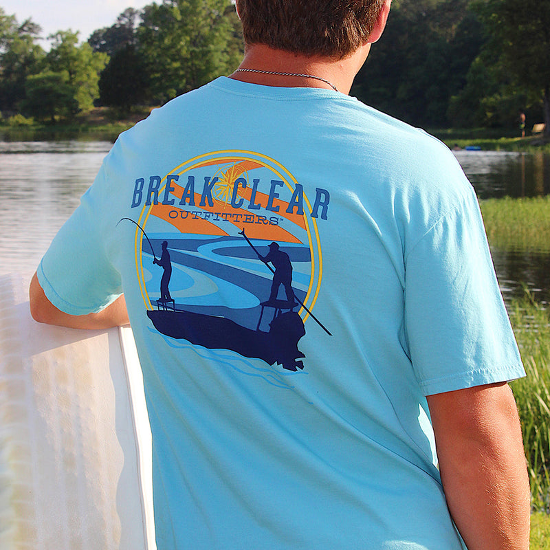 Skiff | Break Clear Men's Fishing T-Shirt | Organic Pima Cotton