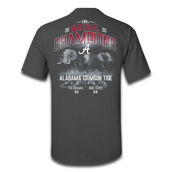 Field Elephants | Alabama 18x National Champions | Short-Sleeve Grey