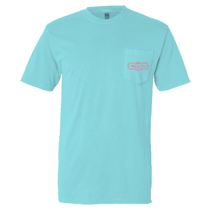Petal On | Madison Rose's Cute Women's T-Shirt | Aqua