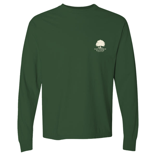 Autumn Tree | Southern Raised Women's Long Sleeve T-Shirt | Forest Green
