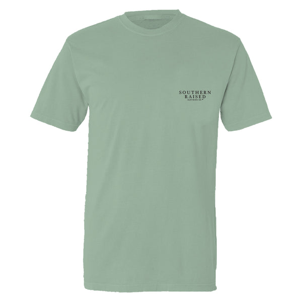 Sunset | Southern Raised Men's  T Shirt | Stonewashed Green