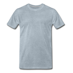 Load image into Gallery viewer, T-shirt unis pour homme - bleu-vert chiné