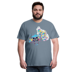 Load image into Gallery viewer, T-Shirt Mind Blown - steel blue