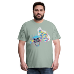 Load image into Gallery viewer, T-Shirt Mind Blown - steel green