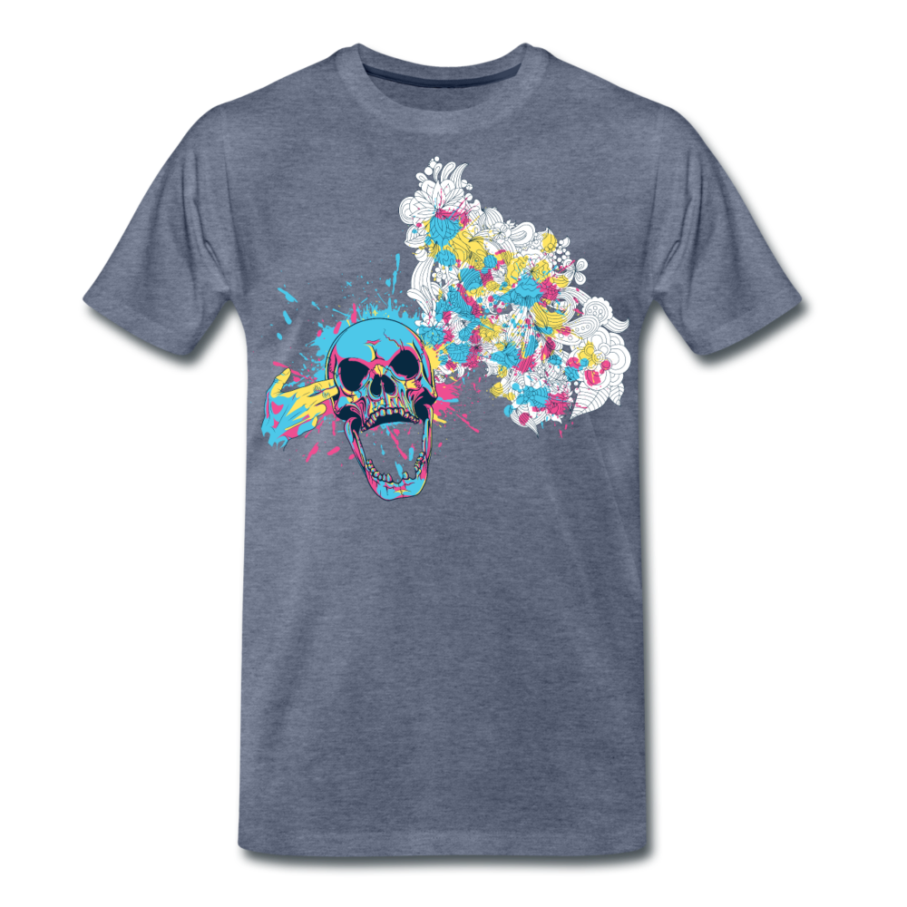 T-Shirt Mind Blown - heather blue
