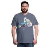 Load image into Gallery viewer, T-Shirt Mind Blown - heather blue