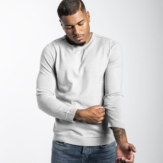 THE PULLOVER LIGHTGREY-MELANGE