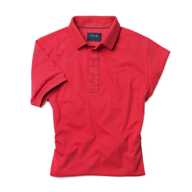 AD.M Poloshirt G1 mit offener Knopfleiste in Rot