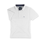 AD.M Poloshirt G5, Strickpolo in weiss