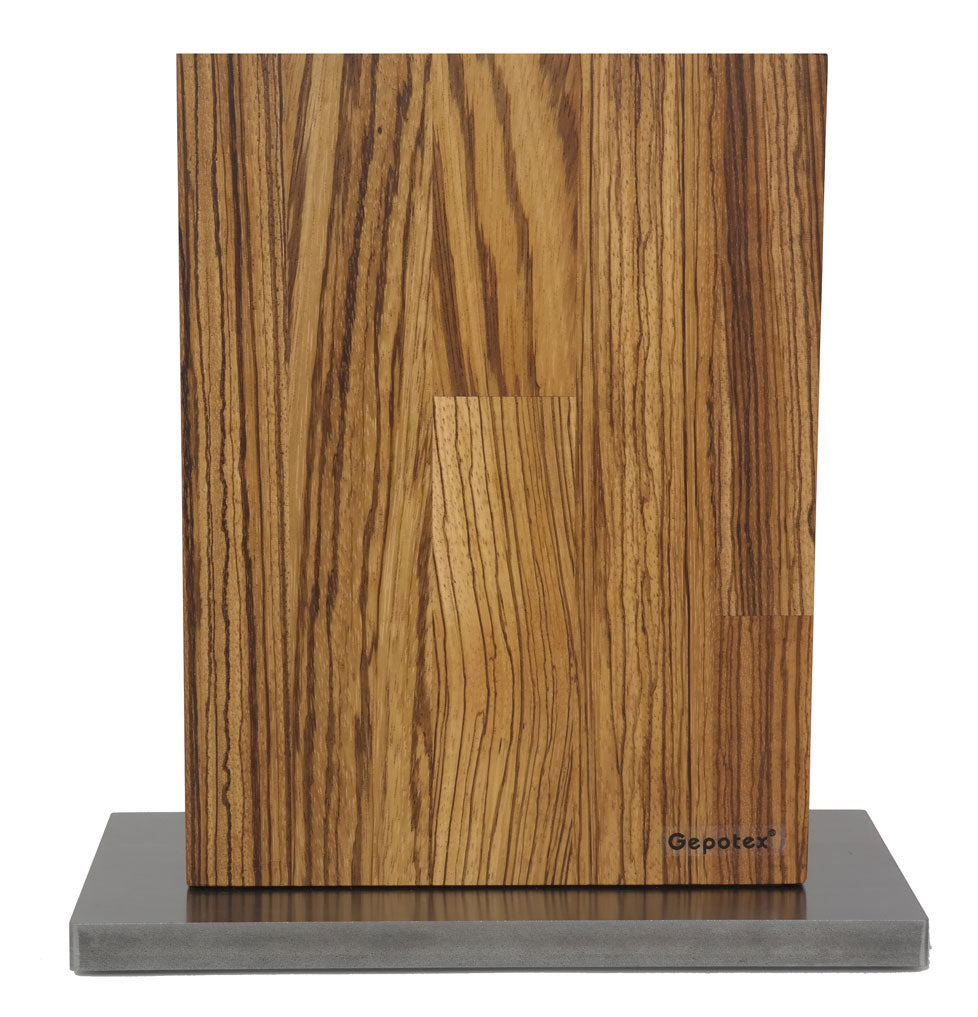 Magnetic Knife Block (Oak Wood 8 Piece)