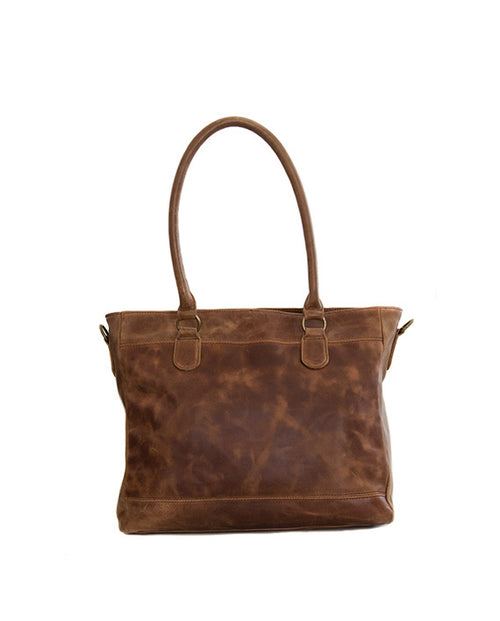Casablanca Ultimate 13inch Laptop Bag  in Waxy Tan Leather
