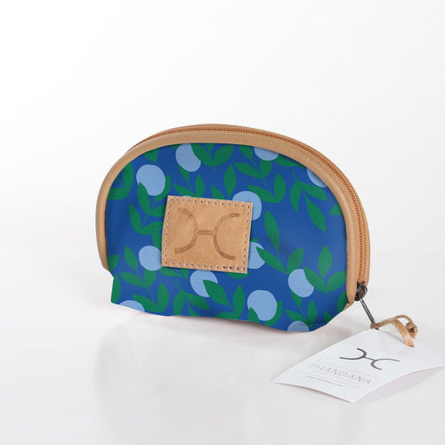 Laminated Fabric Make Up Bag - Its All Peachy Sky