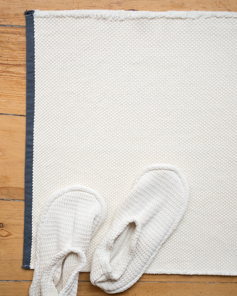 Bath Mat - Cotton Rib Ecru