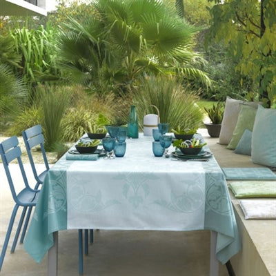 Coated Tablecloth - Syracuse Aqua - Enduit