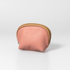 Coral Leather Make Up Bag