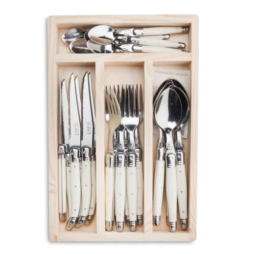 24 Piece Cutlery Set in Ivory