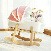 Wooden Cat Swing Rocking Bed