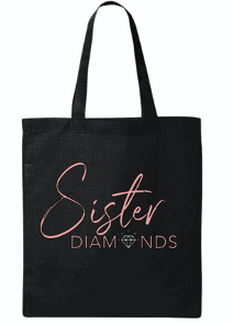Black Sister Diamonds Canvas Tote Bag