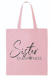 Pink Sister Diamonds Canvas Tote Bag