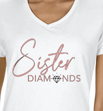 Load image into Gallery viewer, White Sister Diamonds T-Shirt