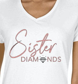 White Sister Diamonds T-Shirt