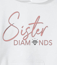 Load image into Gallery viewer, White Sister Diamonds Hoodie