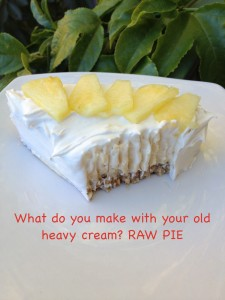 What do I do with old raw cream?