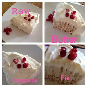 *Recipe* Raw Butter Pomegranate Pie