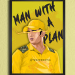 MS Dhoni - Man with a plan -  Poster