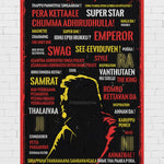 Superstar Rajinikanth Poster