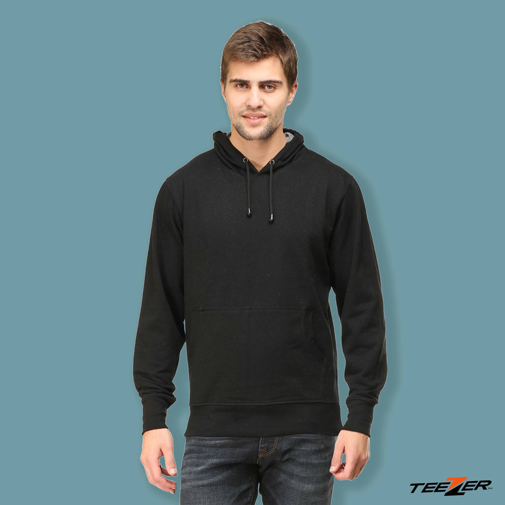 Just plain:Hoodies-black