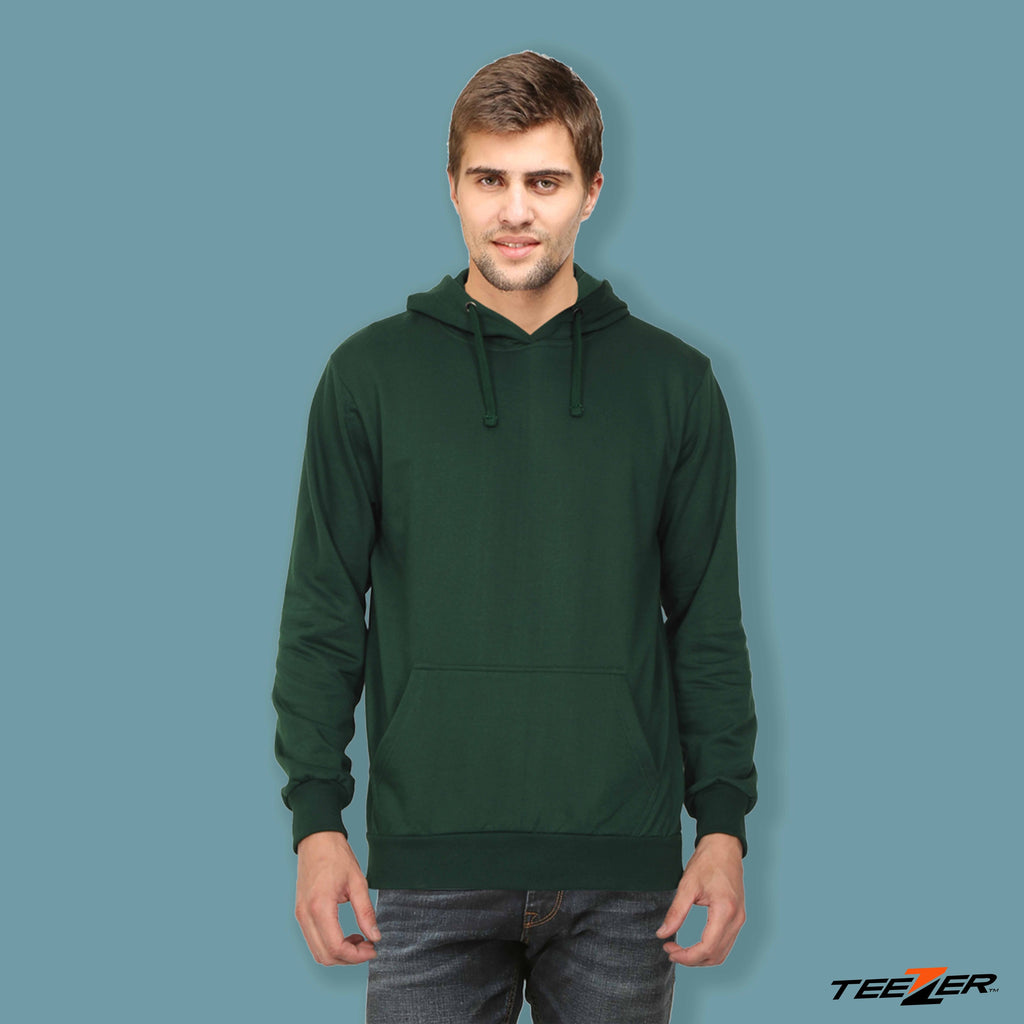 Just plain:Hoodies-bottle green