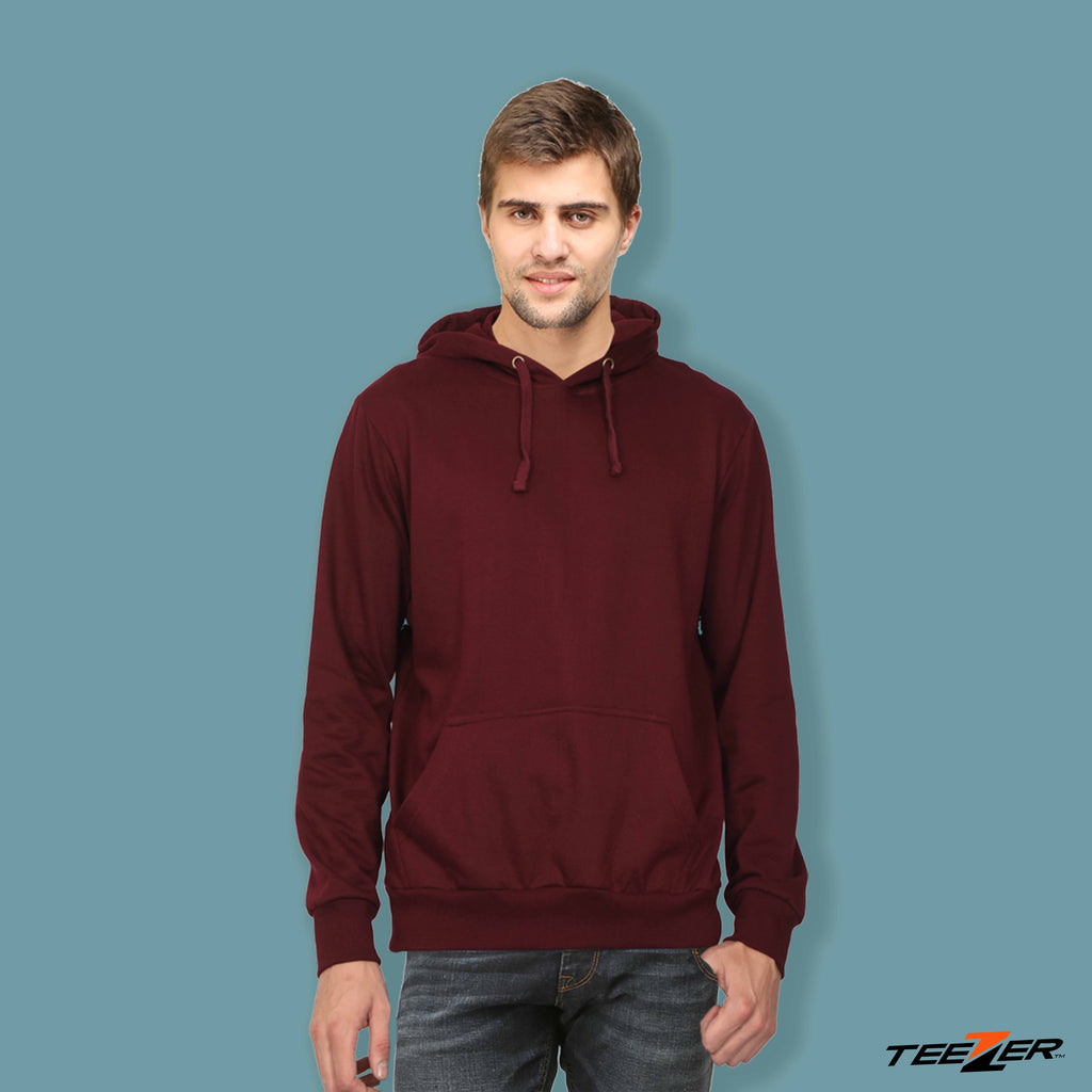 Just plain:Hoodies-maroon