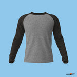 Charcoal Melange Black Raglan Sleeves - Men