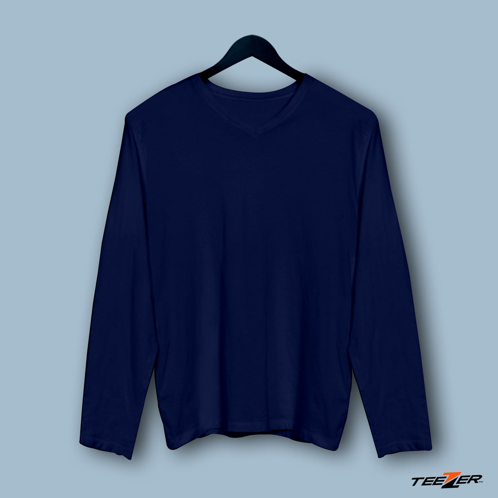 Just plain:Fullsleeves-navyblue