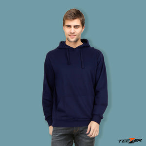 Just plain:Hoodies-navy blue