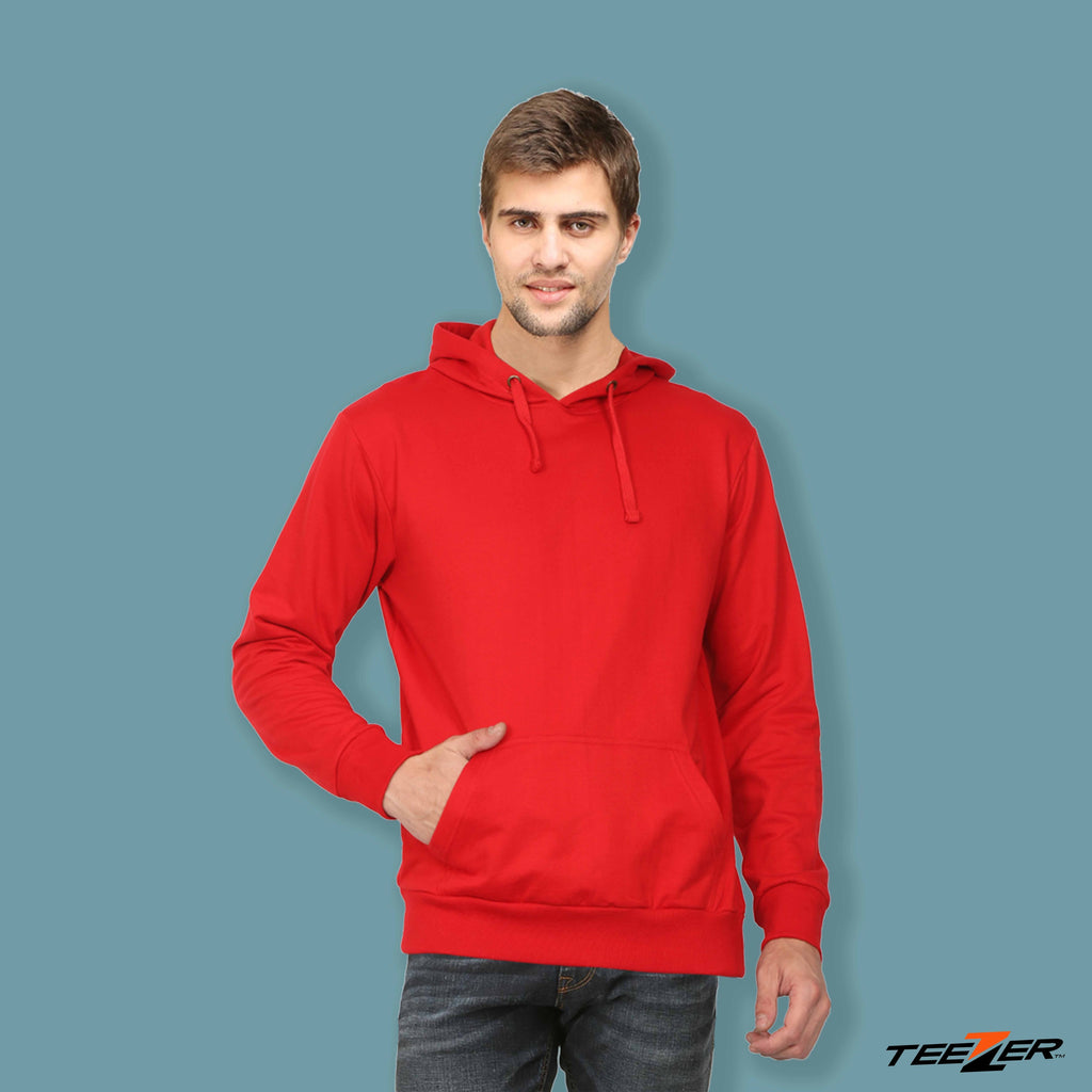 Just plain:Hoodies-red