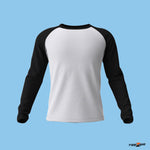 White Black Raglan Sleeves - Men